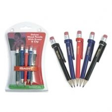 Masters Deluxe Wood Pencils With Eraser And Clip